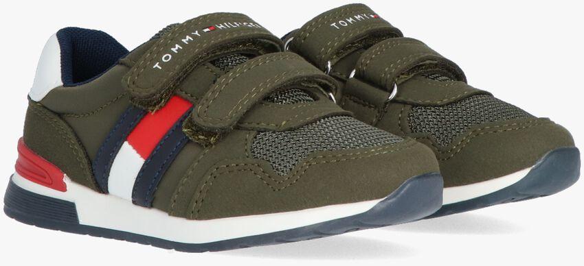 Groene TOMMY HILFIGER Lage sneakers LOW CUT VELCRO SNEAKER  - larger