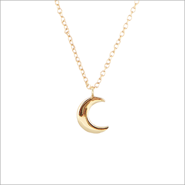 Gouden ALLTHELUCKINTHEWORLD Ketting FORTUNE NECKLACE MOON - large
