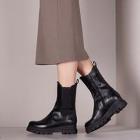 Zwarte NOTRE-V Chelsea boots 10B-202  - medium