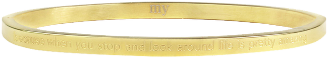 Gouden MY JEWELLERY Armband BECAUSE WHEN YOU STOP AND LOOK - large