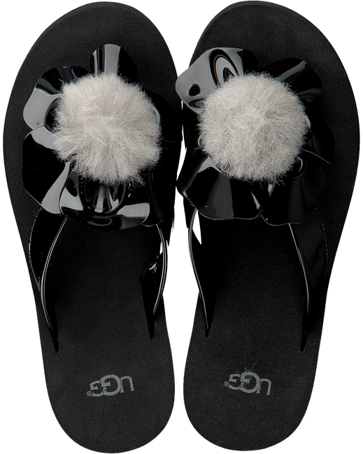 Zwarte UGG Slippers POPPY  - large