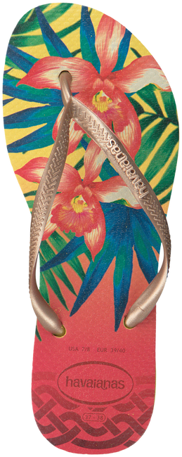 Gele HAVAIANAS Slippers SLIM TROPICAL  - large