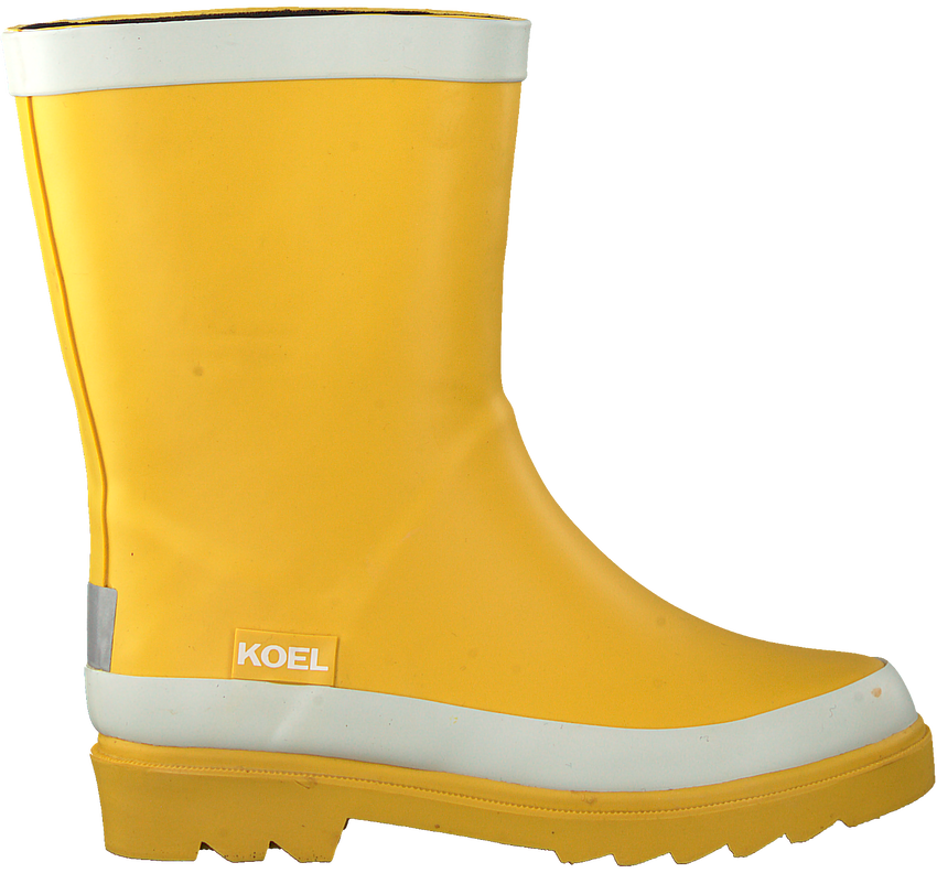 Gele KOEL4KIDS Regenlaarzen KO997  - larger