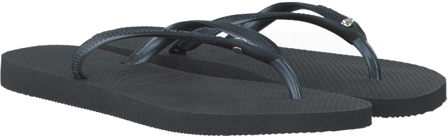 Zwarte HAVAIANAS Slippers SLIM CRYSTAL GLAMOUR  - large