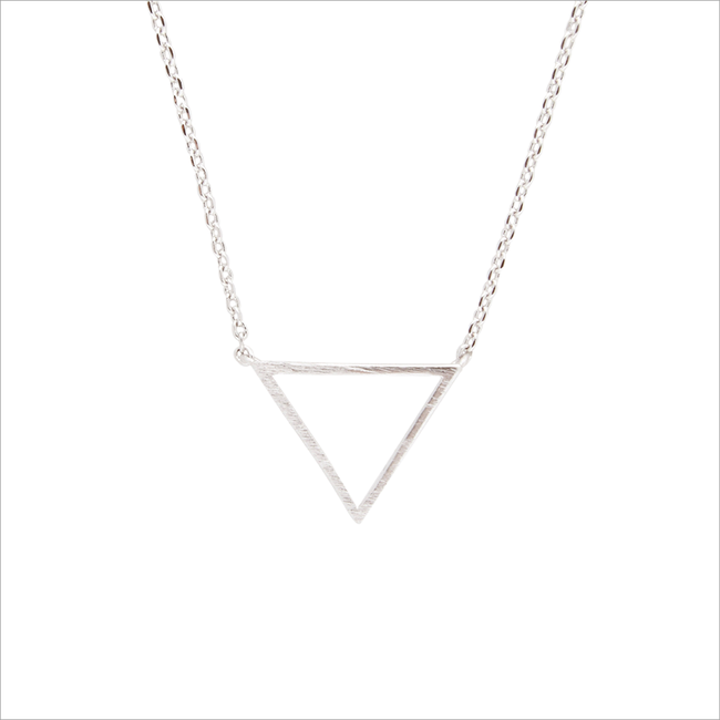 ALLTHELUCKINTHEWORLD KETTING ELEMENTS NECKLACE TRIANGLE - large