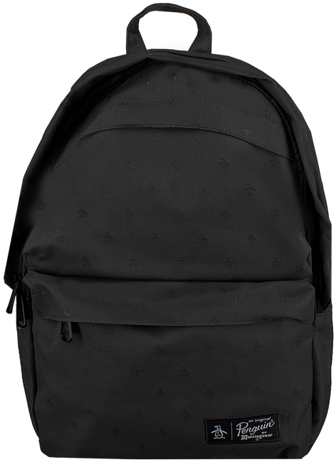 Zwarte ORIGINAL PENGUIN Rugtas CHATHAM AOP PETE BACKPACK - large