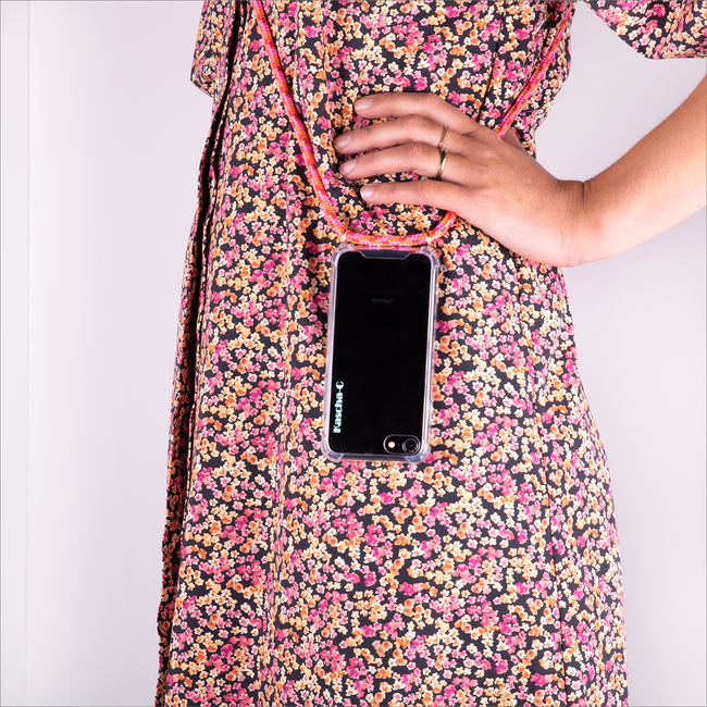 Roze KASCHA-C Telefoonkoord PHONECORD IPHONE 7/8  - large