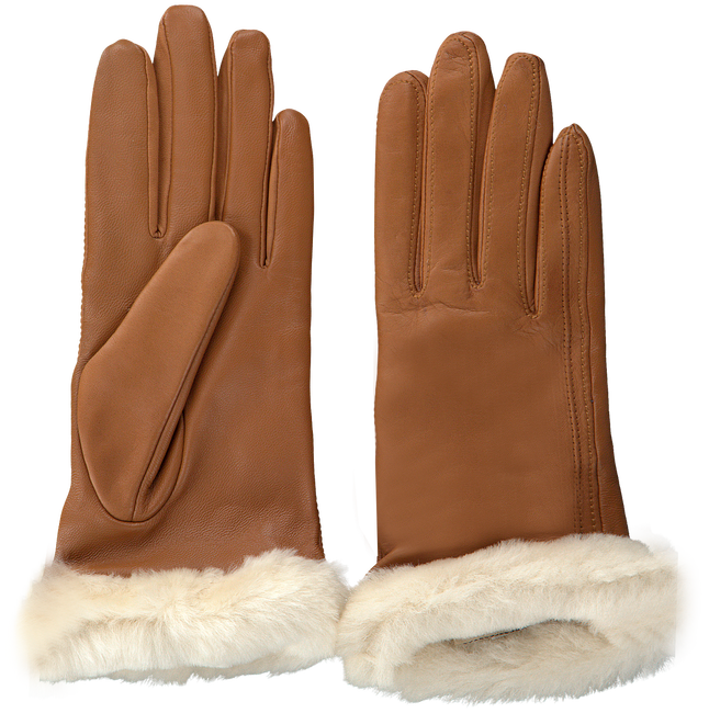 Cognac UGG Handschoenen CLASSIC LEATHER SMART GLOVE - large