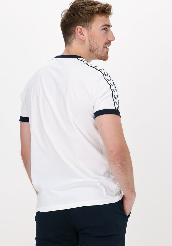 Gebroken wit FRED PERRY T-shirt TAPED RINGER T-SHIRT - larger