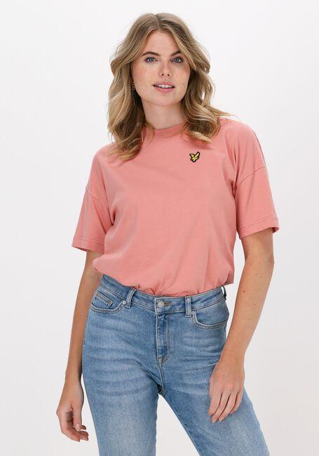 Roze LYLE & SCOTT T-shirt OVERSIZED T-SHIRT  - large