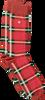 Rode ALFREDO GONZALES Sokken CLASSIC CHECK - small