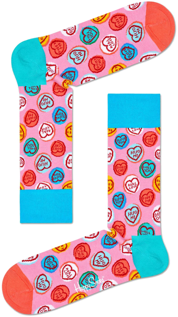 Roze HAPPY SOCKS Sokken SWEET HEARTS  - large