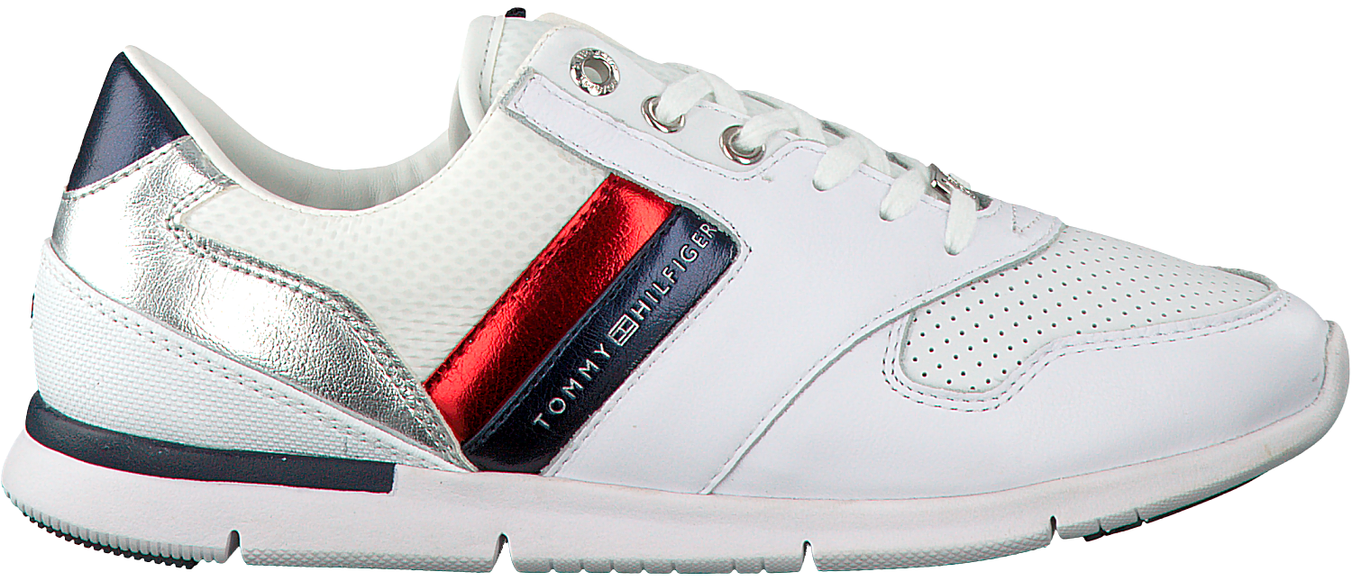 ad649efbf4ad5f Witte TOMMY HILFIGER Sneakers LIGHT WEIGHT LEATHER SNEAKER - large. Next