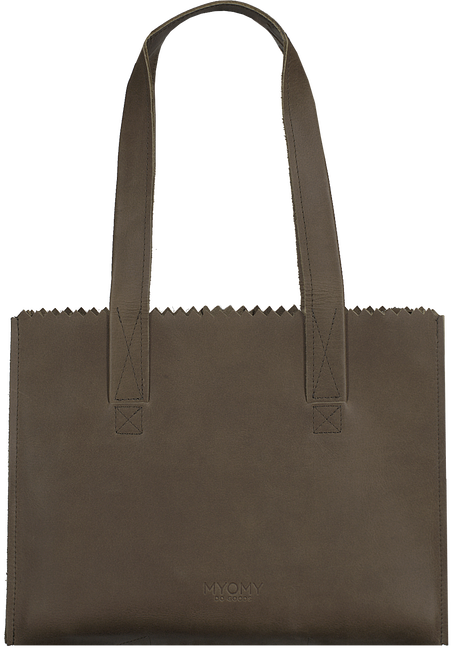 Taupe MYOMY Handtas MY PAPER BAG HANDBAG  - large