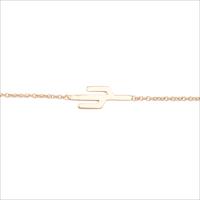 Gouden ATLITW STUDIO Armband SOUVENIR BRACELET CACTUS - medium