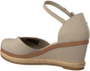 Grijze TOMMY HILFIGER Sandalen BASIC CLOSED TOE MID WEDGE  - small