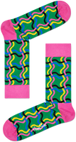 Zwarte HAPPY SOCKS Sokken SQUIGGLY SOCK  - medium
