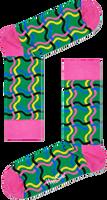 Zwarte HAPPY SOCKS Sokken SQUIGGLY SOCK  - medium