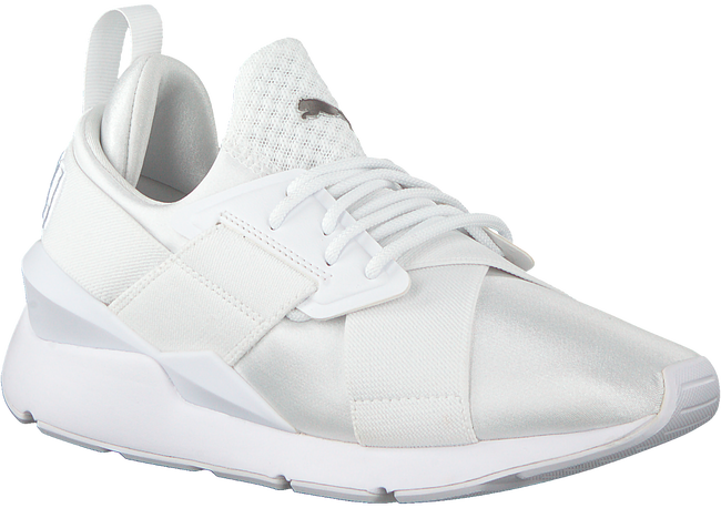 Witte PUMA Sneakers MUSE SATIN - large