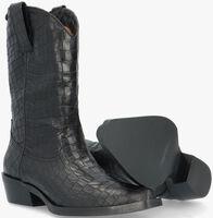 Zwarte NOTRE-V Enkellaarsjes 02-160  - medium