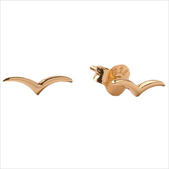 Gouden ATLITW STUDIO Oorbellen PARADE EARRINGS SWALLOW  - large