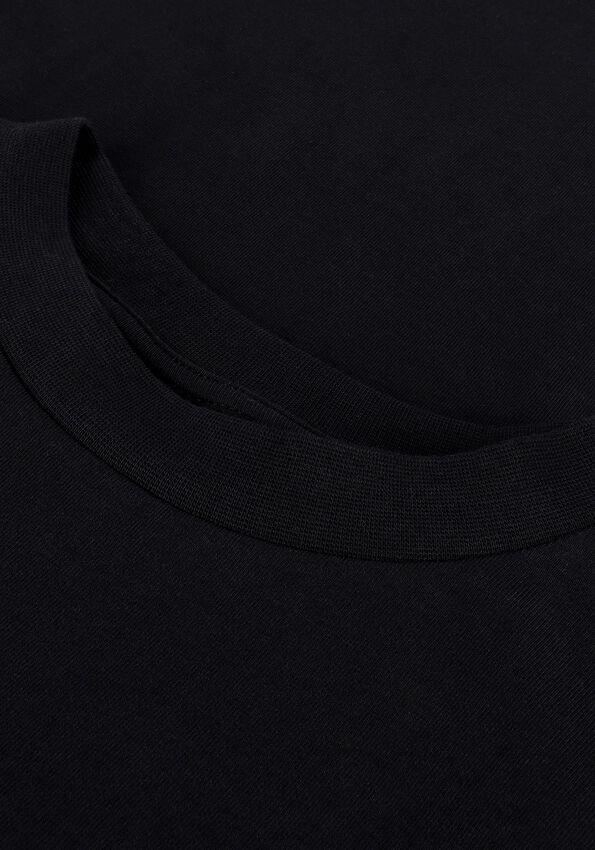 Zwarte PUREWHITE T-shirt ESSENTIAL TEE U NECK LS - larger