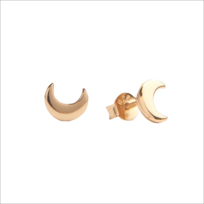 Gouden ATLITW STUDIO Oorbellen PARADE EARRINGS MOON - large