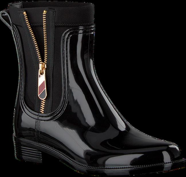 Zwarte TOMMY HILFIGER Regenlaarzen MATERIAL MIX RAIN BOOT - large