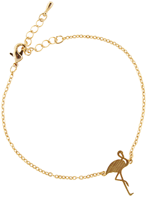 Gouden ALLTHELUCKINTHEWORLD Armband ELEMENTS BRACELET FLAMINGO - large