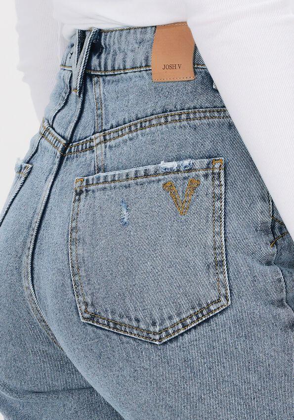 Blauwe JOSH V Mom jeans MELIKA - larger