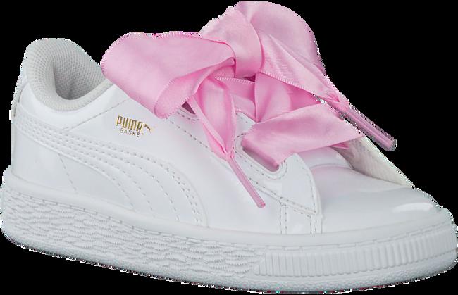 Witte PUMA Sneakers BASKET HEART PATENT KIDS  - large