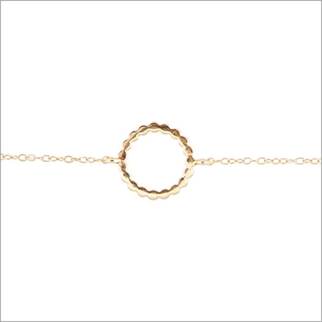 Gouden ALLTHELUCKINTHEWORLD Armband FORTUNE BRACELET DOTTED CIRCLE - large