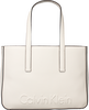 Witte CALVIN KLEIN Shopper EDGE MEDIUM SHOPPER - small