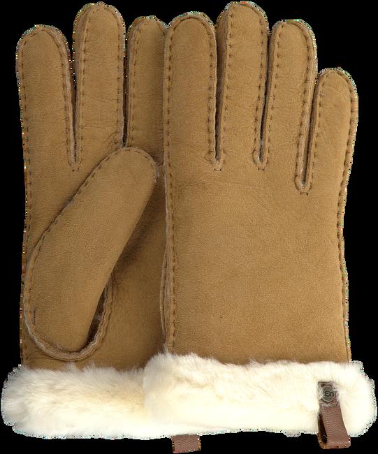 Camel UGG Handschoenen SHORTY GLOVE W/TRIM  - large