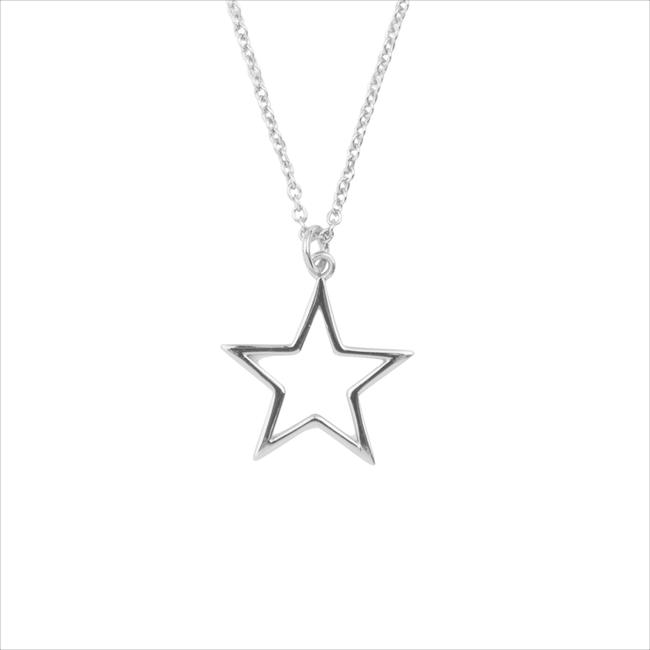 Zilveren ATLITW STUDIO Ketting SOUVENIR NECKLACE STAR - large