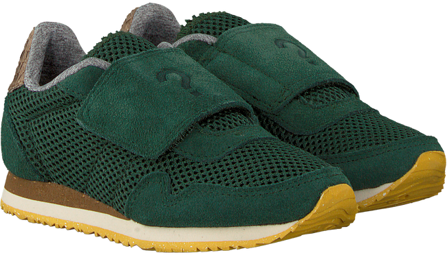 Groene WODEN WONDER Sneakers WHY MESH SUEDE - large