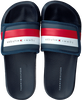 Blauwe TOMMY HILFIGER Badslippers MAXI VELCRO POOL SLIDE  - small