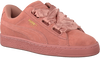Roze PUMA Sneakers SUEDE HEART SATIN II  - small