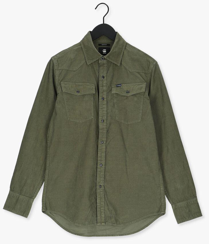 Olijf G-STAR RAW Casual overhemd C436 - ESPER CORDUROY RFD- 330 - larger