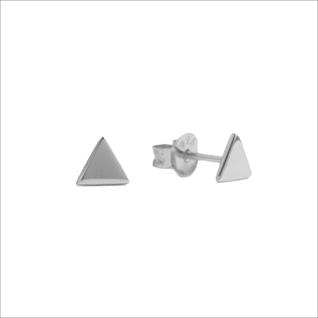 Zilveren ATLITW STUDIO Oorbellen PARADE EARRINGS TRIANGLE - large