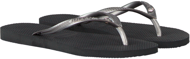Grijze HAVAIANAS Slippers SLIM CRYSTAL GLAMOUR  - large