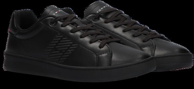 Zwarte TOMMY HILFIGER Lage sneakers RETRO TENNIS CUPSOLE  - large
