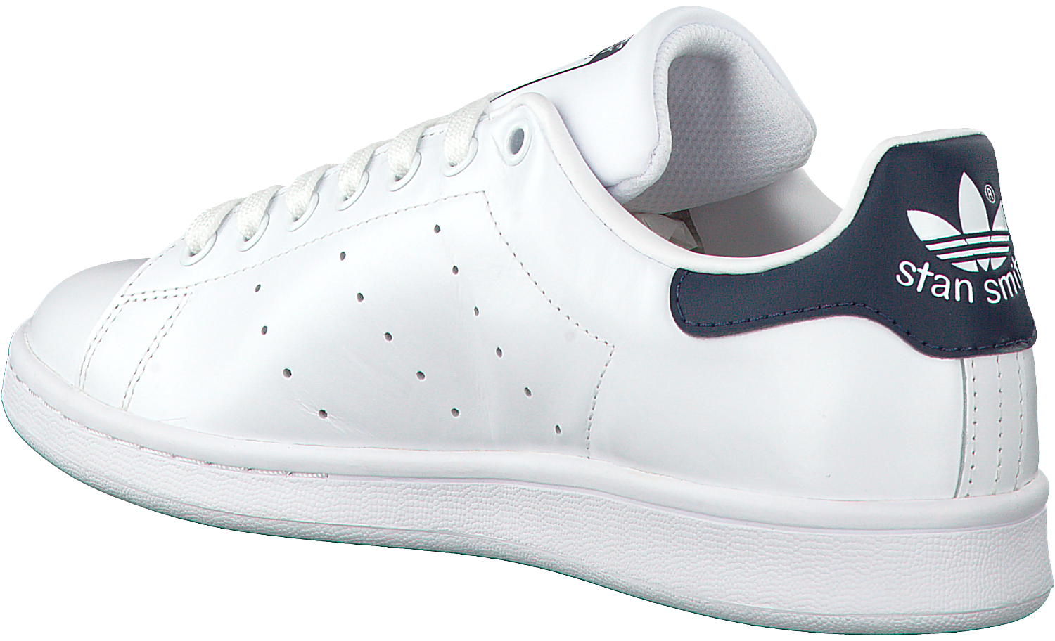 adidas stan smith wit met blauw