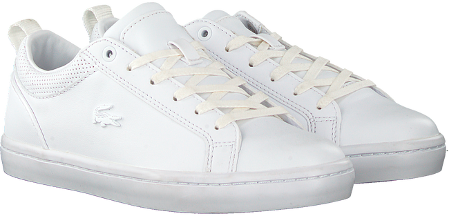Witte LACOSTE Lage sneakers STRAIGHTSET 120 - large