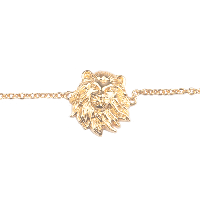 Gouden ALLTHELUCKINTHEWORLD Armband SOUVENIR BRACELET LION - large