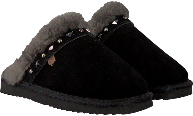 Zwarte WARMBAT Pantoffels FLURRY WOMEN STUDS - large