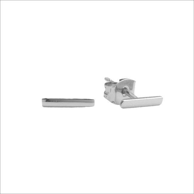 Zilveren ATLITW STUDIO Oorbellen PARADE EARRINGS BAR - large