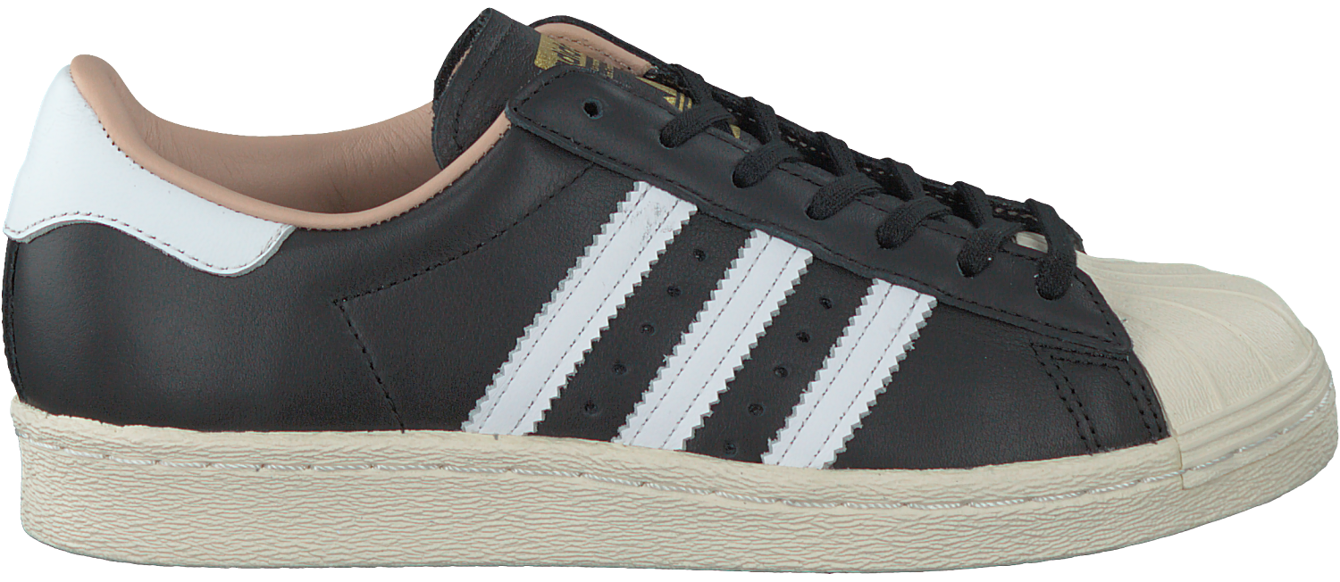 Zwarte ADIDAS Sneakers SUPERSTAR 80S DAMES | Omoda
