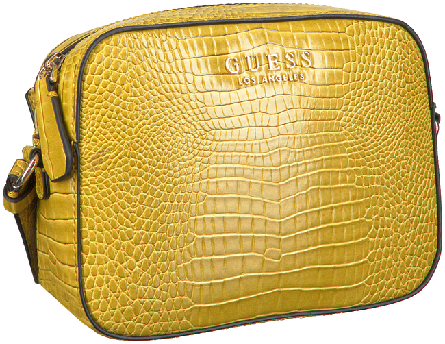 Gele GUESS Schoudertas KAMRYN CROSSBODY TOP ZIP  - large