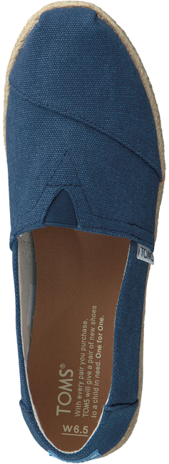 Blauwe TOMS Espadrilles CLASSIC ROPE SOLE - large